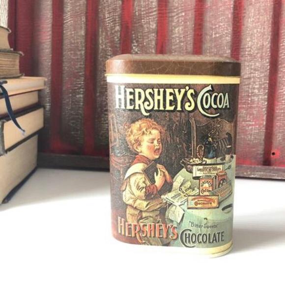 Vintage Hershey Tin, Chocolate Collectible Can